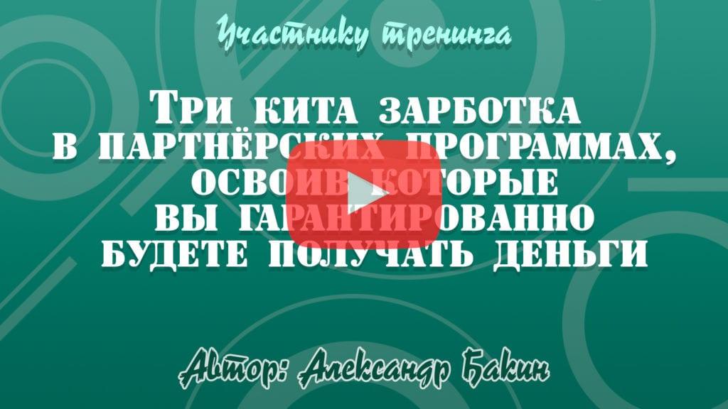 Видео 4 - Что будет на тренинге и как он будет проходить